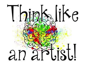 Think Like An Artist Growth Mindset Phrase Set