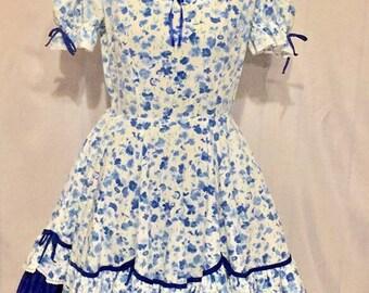 Sz 10 Partners Please Vintage  Square Dance Dress