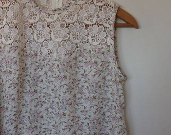 grace...ladies shift in vintage cotton lawn and lace