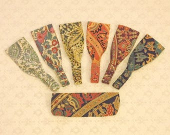 Boho Tribal Handprinted Wide Wrap Headband in 7 Prints