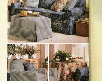 Butterick # 5293: Couch Slipcovers and Pillows