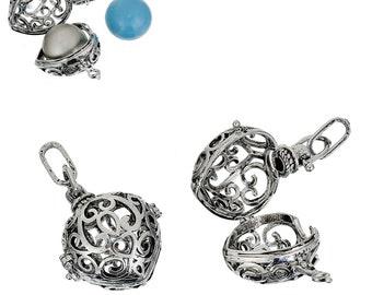 Silver Harmony Ball/Wish Box Pendant - Sold Individually - #HK1515