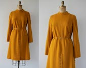 vintage 1960s dress / 60s mustard yellow dress / 60s knit dress / 60s B. Siegel new old stock dress / 60s NWT shift dress / large XL
