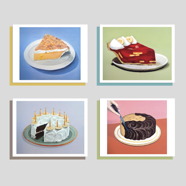 Jello Pie Birthday Card Birthday Dessert Card Strawberry Banana