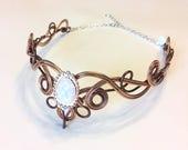 Elven Circlet - MELIAN - Celtic Knot Hand Wire Wrapped - Bridal Crown Wedding Tiara Hairpiece - Elvish Headband