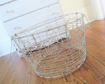 Vintage Wire Basket * Shabby Cottage Chic * Farmhouse