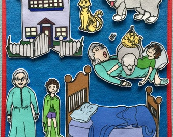 The Napping House Felt Board Story. Teachers. Story time. Flannel Board Activity