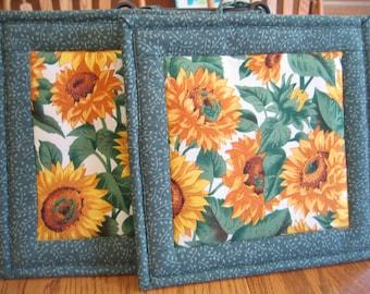 Sunflower Pot Holders - Set of 2