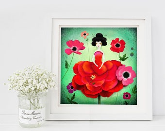 50% Off - Summer SALE - Anemone - open edition print