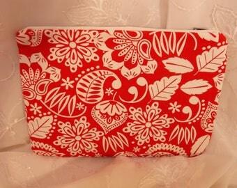 Hawaiian Pencil Pouch, Makeup Bag, Gadget Case, Medicine Bag, Artists Storage Bag, Medicine Pouch, Makeup Pouch
