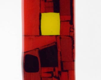 Red,Black and Yellow Sculpture