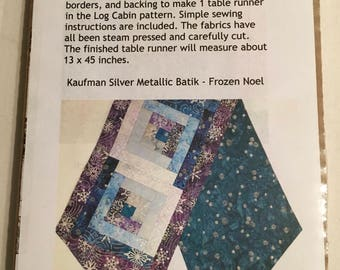 Table Runner kit Log Cabin