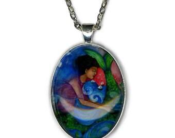 Statement necklace - Yemaja Goddess - Goddess Jewelry - Goddess Art - Yaruba Goddess - gifts for her - girlfriend gift necklace - boho chic