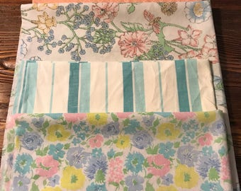 Vintage sheet fat quarter bundle