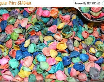 "Save25% Buy 1 get 1 free:Cardium shells dyed-2""x3"" bag filled with assorted colors-Small shells-Clam shells"