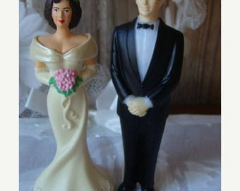 ONSALE Gorgeous Vintage Wedding Couple Cake Topper