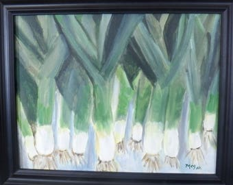 Green Onions with frame