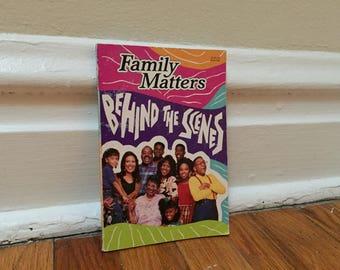 Family Matters Book 1993 Vintage TGIF Paperback Steve Urkel Behind the Scenes