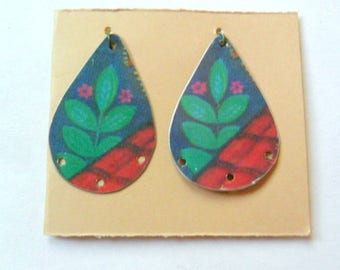 Reclaimed Upcycled Candy Tin Earring Findings Pair