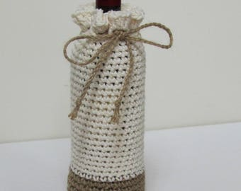 Summer Wine Bottle Cozy  (pick your color)