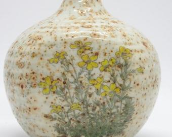 Vintage Ceramic Bud Vase Wildflowers Made In Japan