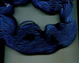 Handmaiden Silk Maiden Yarn, Shades of Blue, Silk and Wool, Hand Dyed in Canada
