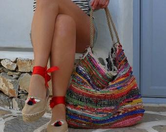 Shoulder Kilim Bag. Extra Large Boho Beach Bag. Fabric Shopping Bag. Boho Tote Bag. Colorful Beach Bag.  Hippie Bag. Womens Gift