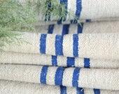 RP 794:antique bleu bleuet 10.16yards français lin, vintage, tablerunner rideaux coussins; mariage, au printemps, en décoration de la maison 22.83 pouces