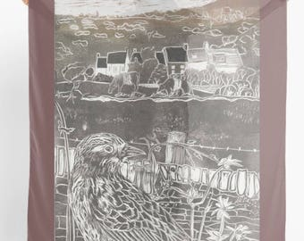Skylark at Clearbrook , Large art scarf