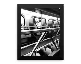 Black and White Train Poster