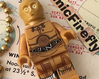 Lego Star Wars Fan Pull Chain Lego CP30 Fan Pull Lego Mini Fig Toy Boy's Room Decor Boy's Fan Pull Robot C3P0 Toy Lego Mini Figure Mini Fig
