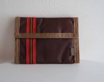 Levis 70s / 80s retro brown nylon VELCRO wallet UNISEX OS