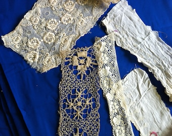 Lace, Lace and More Lace! Assorted yardage of Vintage Lace from Barneche/Stephanie Barnes Studio