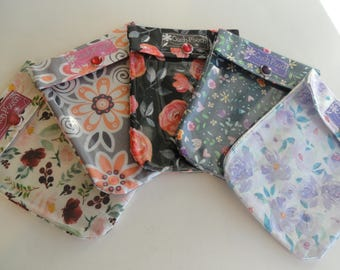 Ouch Pouch 5 Pack Small 4x5 Clear Front Purse Organizers First Aid Make Up Baby Shower Stocking Stuffer Teacher Gifts You Choose Fabrics