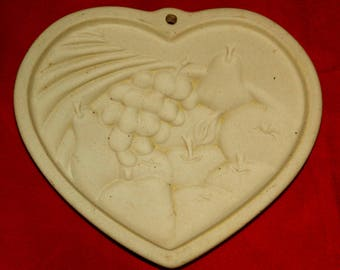Pampered Chef Cookie Mold, Heart of Plenty 1995 CrabbyCats Crabby Cats GB12b