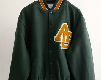 40% SUMMER SALE The AG Green Letterman Jacket