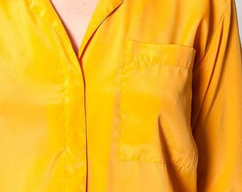 40% OFF CLEARANCE SALE The Vintage Mustard Yellow Button Up Shirt