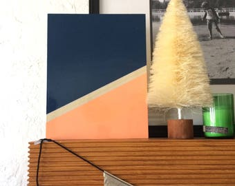 Simple Abstract Painting Always Believe Something Wonderful Locally Made - Art on wood panel