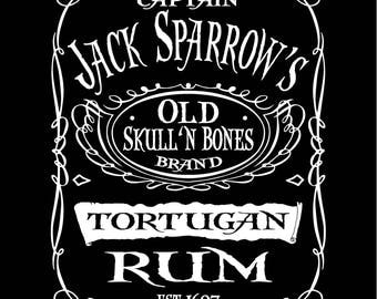 Pirates of the Caribbean Captain Jack Sparrow Tortugan Rum T-Shirt