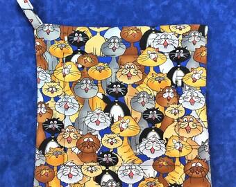 Happy Cats Square Pot Holder