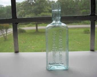 Chamberlains Cough Remedy, medicine bottle, antique, vintage, old, des moines iowa