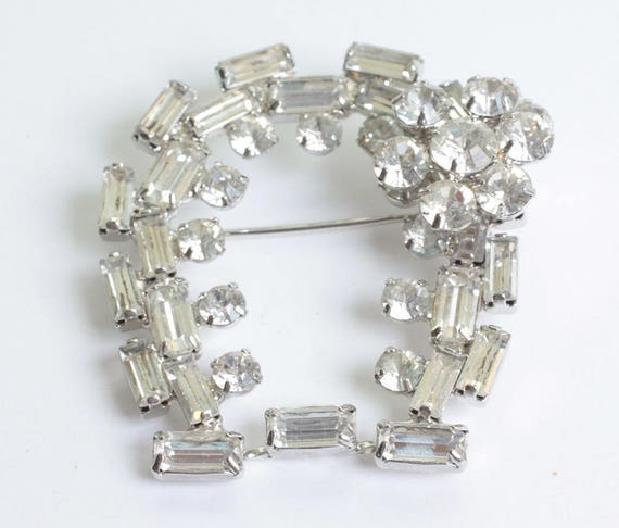 Juliana Clear Swarovski Crystal Horseshoe Brooch from Original  DeLizza and Elster Design