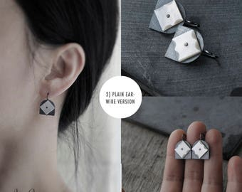 Star Studded Mother of Pearl Oxidised Tulips 02 earrings
