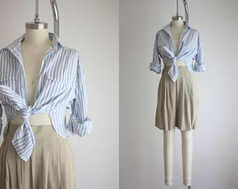 SALE ITEM : chambray stripe work shirt
