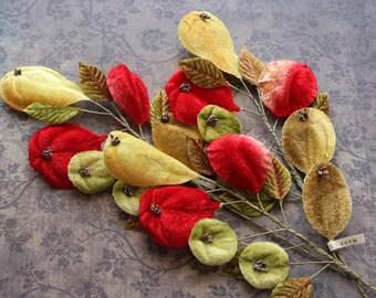 Vintage Velvet Millinery Fruit