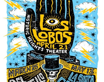 Los Lobos, Del Castillo, La Santa Cecilia Poster, Heights Theater, Houston, Texas (Limited Quantities)