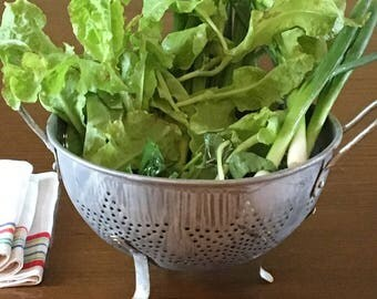 Aluminum Colander Strainer  Pierced 7 Star Pattern  Kitchen Vegetable Drainer Metal Strainer  Sieve