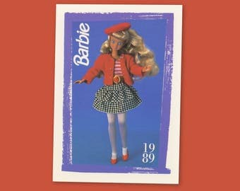 """Barbie Collectible Trading Card - """"Skipper Teen Time Fashion"""" 1989 - Card No. 179 for Barbie collectors, dioramas, Skipper Collectible"""