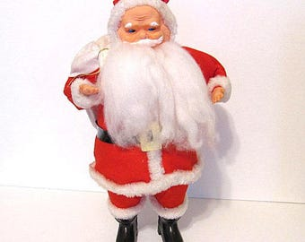 """Vintage Stand up Santa with Toy Sack Japan  Large 13"""" Christmas Decor"""