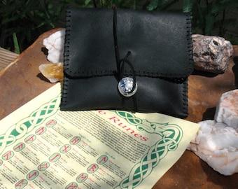 Hand Made Aspen Elder Futhark Rune Set~Leather Pouch~Divination~Advice